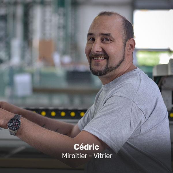 Cédric, miroitier vitrier à la Miroiterie du Rhône