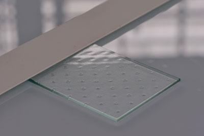 Aperçu de nos produits, échantillon verre à pois, pour vos projets agencement et décoration