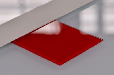 Aperçu de nos produits, échantillon verre coloré rouge