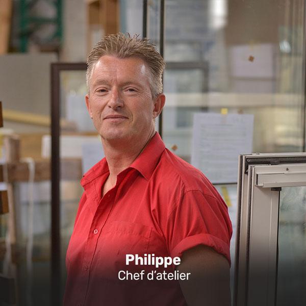 Philippe, chef d'atelier à la Miroiterie du Rhône