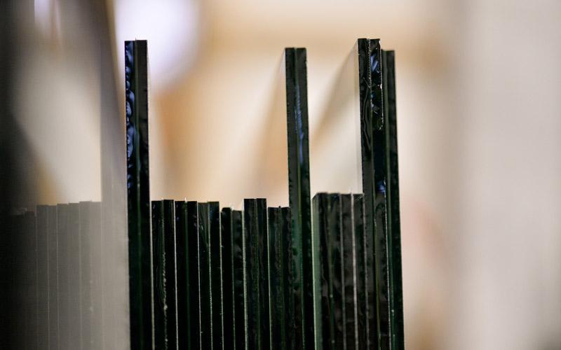 Détails du verre feuilleté par la Miroiterie du Rhône