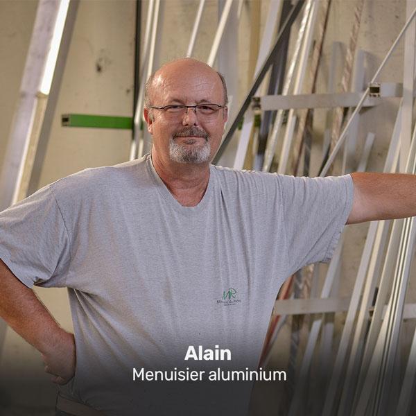 Alain, monteur aluminium à la Miroiterie du Rhône