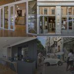 Les quatre spécialités complémentaires de la Miroiterie du Rhône, l'agencement et décoration verre, la miroiterie vitrerie, la menuiserie aluminium et le remplacement de casse