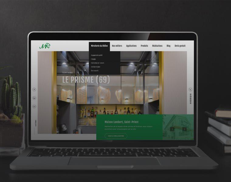 Un nouveau site web pour Miroiterie du Rhône