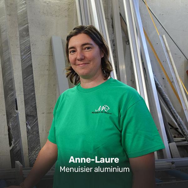 Anne-Laure, menuisier aluminium